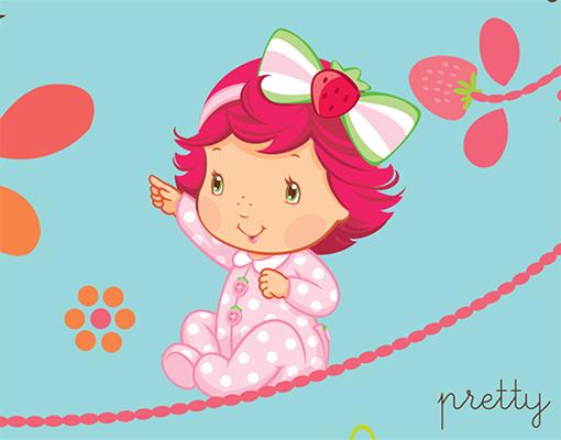 Vlies fototapete emily erdbeer baby emily rosa for Kinderzimmer emily