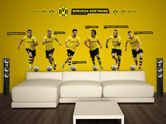 Wandtattoo borussia dortmund spieler sticker set bvb fu ball verein fan logo bilder - Wandtattoo dortmund ...