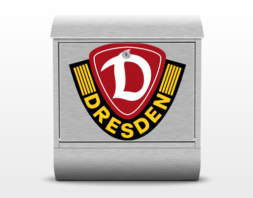 design briefkasten sg dynamo dresden logo 39x46x13cm fu ball verein fan artikel bilder. Black Bedroom Furniture Sets. Home Design Ideas