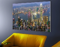 Hartschaum Bild Hongkong Skyline