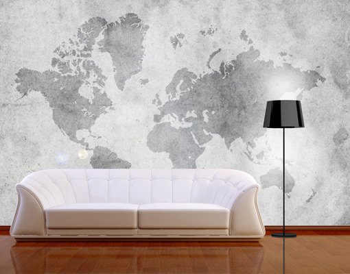 vlies fototapete vintage weltkarte ii tapete erde. Black Bedroom Furniture Sets. Home Design Ideas