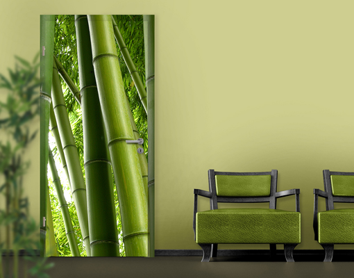 fototapete t r selbstklebend bamboo trees no 2 foto tapeten bambus pflanze wald ebay. Black Bedroom Furniture Sets. Home Design Ideas