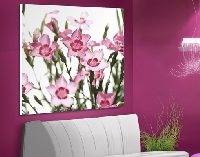 Hartschaum Bild Pink Flowers