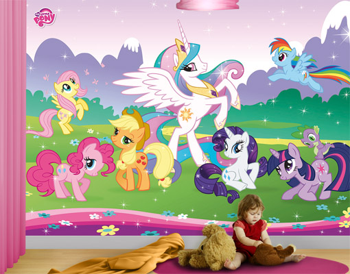 Photo wall mural my little pony 400x280 wallpaper children for Children s mural wallpaper