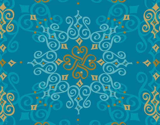 Design tisch orientalisches ornament t rkis 55x45x55 beistelltisch couchtisch ebay - Wandtattoo orientalisch ...