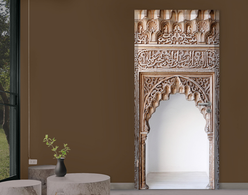 fototapete t r selbstklebend alhambra foto tapeten bauwerke orientalisch tore ebay. Black Bedroom Furniture Sets. Home Design Ideas