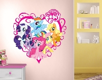 WandTattoo No.702 My little Pony - Herz 83x85cm