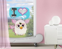 FensterSticker Furby - I LOVE