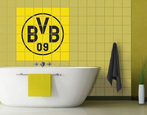 fliesenbild borussia dortmund emblem fliesen aufkleber. Black Bedroom Furniture Sets. Home Design Ideas
