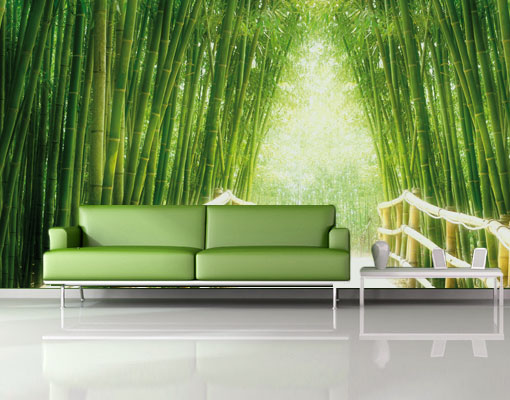 vlies fototapete bamboo way tapete bambus bl tter blatt asien bananenbaum ebay. Black Bedroom Furniture Sets. Home Design Ideas