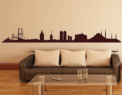 Das Bild Wird Geladen Wall Decal No 1436 Istanbul Skyline Wallsticker