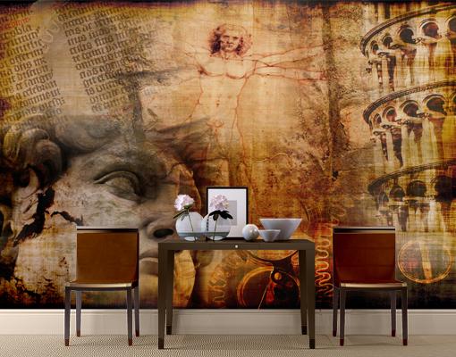 photo wall mural italian treasure 400x280 wall decor wallpaper wall art italy ebay. Black Bedroom Furniture Sets. Home Design Ideas