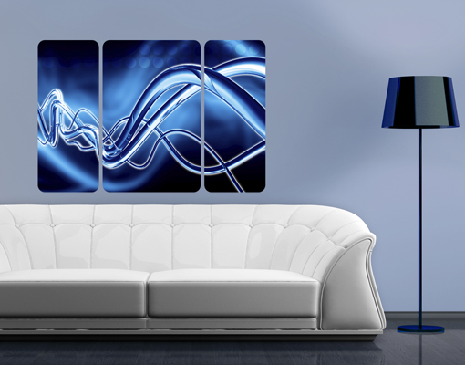 Wall mural equalizer triptych ii 3d digital art abstract for Digital wall mural