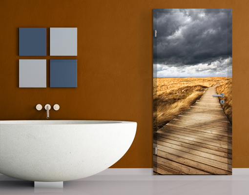 fototapete t r selbstklebend weg in den d nen foto tapeten strand nordsee sand ebay. Black Bedroom Furniture Sets. Home Design Ideas