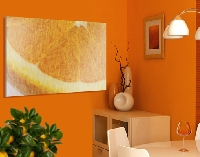 Alu Dibond Butlerfinish Bild Juicy Orange