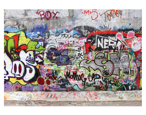 Photo wall mural cool graffiti 400x280 wallpaper wall art for Cool mural wallpaper