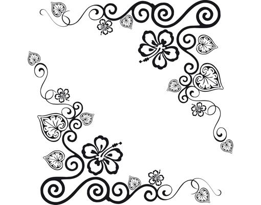 Wandtattoo uhr no ca17 cornerment wandsticker wandtattoo for Ornamente jugendstil