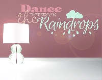 WandTattoo No.EV66 Dance Between The Raindrops
