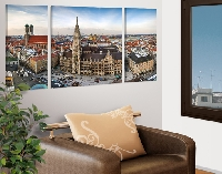 LeinwandBild City of Munich Triptychon II