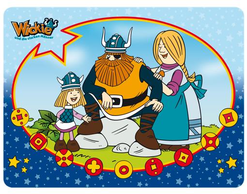 Wandbild wickie festmahl kinderzimmer wikinger - Wandbild familie ...
