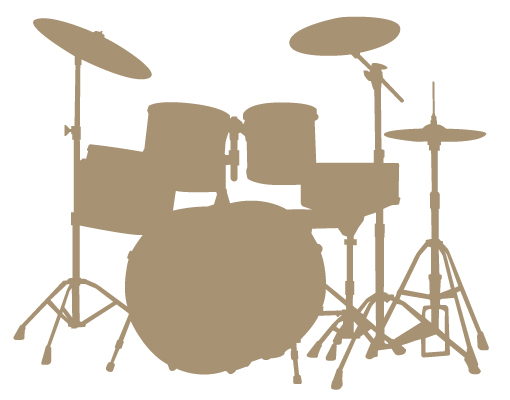 Drum Set Outline Drum Set Outline Ac72 Drum Kit