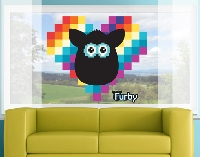 FensterSticker Furby - ICONIC Heart