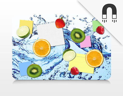 design magnettafel fresh and fruity deko magnete set pinnwand memoboard k che ebay. Black Bedroom Furniture Sets. Home Design Ideas