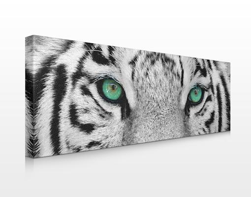 leinwand bild bilder wei er tiger panorama druck rahmen gro gef hrlich tiere ebay. Black Bedroom Furniture Sets. Home Design Ideas