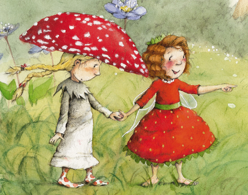 Fototapete Kinderzimmer Mädchen : Vlies FotoTapete Erdbeerinchen ...