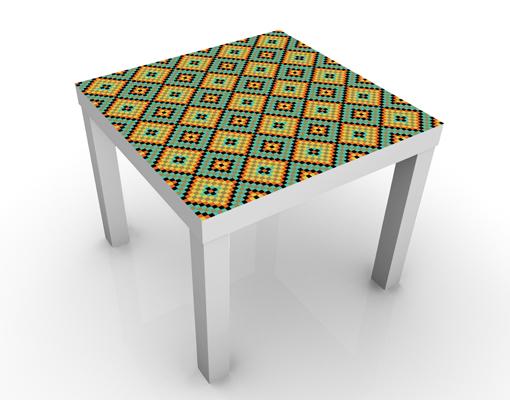Design Tisch Buntes Mosaik Fliesenmuster 55x45x55