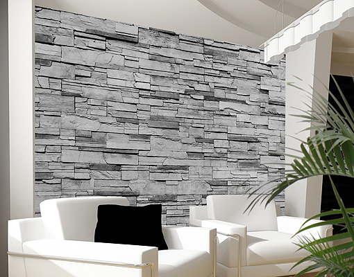 Vlies fototapete patagonia stonewall wandverblender tapete for Tapete steinwand