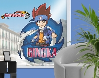 FensterSticker Beyblade - Metal Fury Gingka mit Signatur
