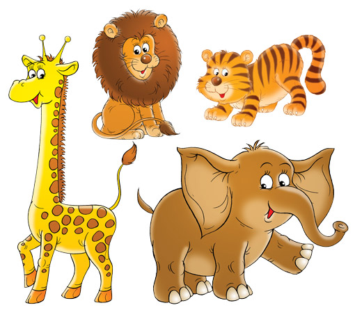 Wandtattoo Top 6 Motive Kinderzimmer Eule Safari Frosch Dschungel ...