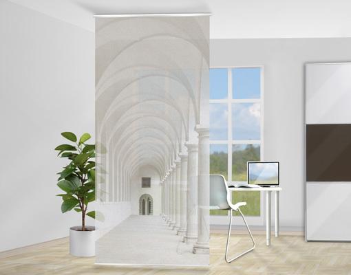 design raumteiler inkl halterung trennwand paravent fl chenvorhang gardine wow ebay. Black Bedroom Furniture Sets. Home Design Ideas