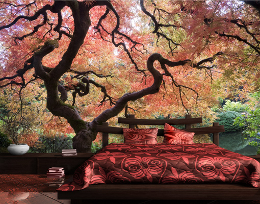 photo wall mural japanese garden wallpaper wall art wall. Black Bedroom Furniture Sets. Home Design Ideas