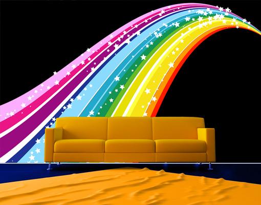 fleece wall mural rainbow wallpaper wall art wall decor
