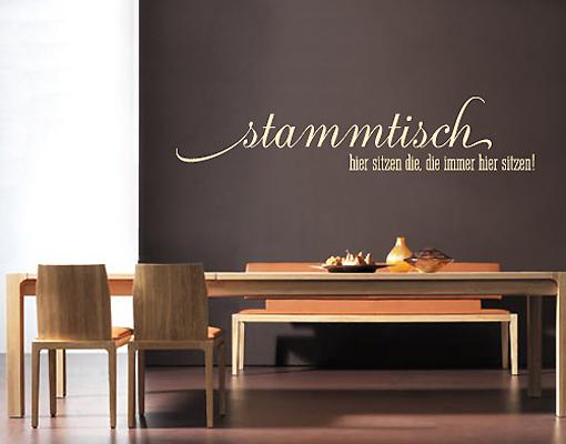 wandtattoo no sf689 stammtisch spr che k che restaurant kochen essen ebay. Black Bedroom Furniture Sets. Home Design Ideas