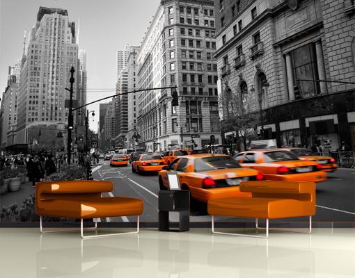 fleece wall mural new york new york wallpaper wall art. Black Bedroom Furniture Sets. Home Design Ideas