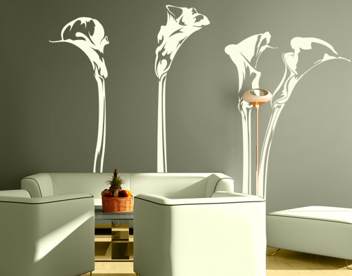 Image is loading Wall-Decal-No-IS78-Calla-Lily-Set-Wall- & Wall Decal No.IS78 Calla Lily Set Wall Sticker Floral Summer Nature ...