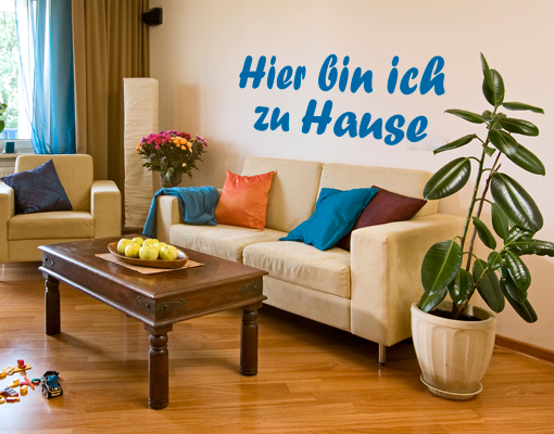 wandtattoo no kp128 zu hause spruch sonstiges spa ebay. Black Bedroom Furniture Sets. Home Design Ideas