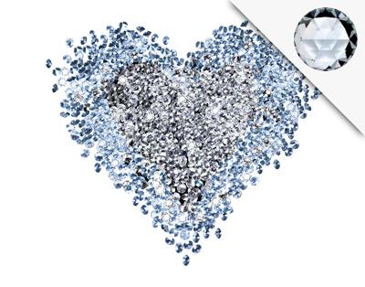 Wandtattoo Diamant Herz + 15 CRYSTALLIZED™ Swarovski ...