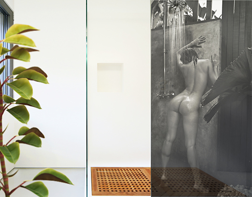 Window Mural Tropical Shower Woman Erotic Nude Water Tropic | Ebay Fliesenbilder Fr Dusche