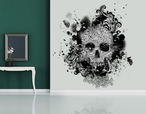 Selbstklebende Tapeten Folien : Skull Head Wall Mural