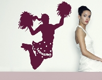 WandTattoo No.RS106 Wunschtext Cheerleader