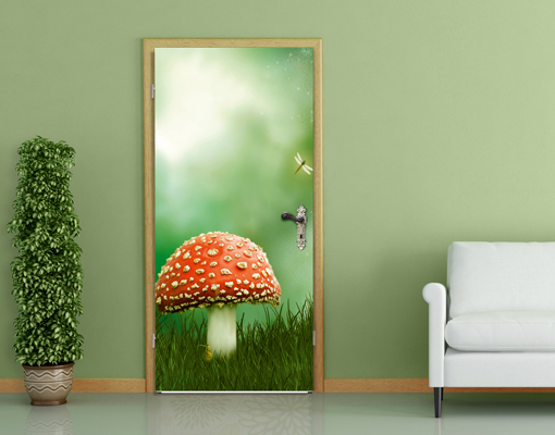 Photo wall mural door it 39 s magic 100x210 3d digital art for Door mural wallpaper