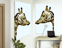 LeinwandBild Giraffes In Love Duo