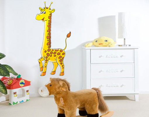 wandsticker stolze giraffe kinder tiere afrika comic. Black Bedroom Furniture Sets. Home Design Ideas