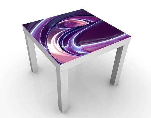 Design table circles in purple 55x45x55 side coffee motif for Purple coffee table
