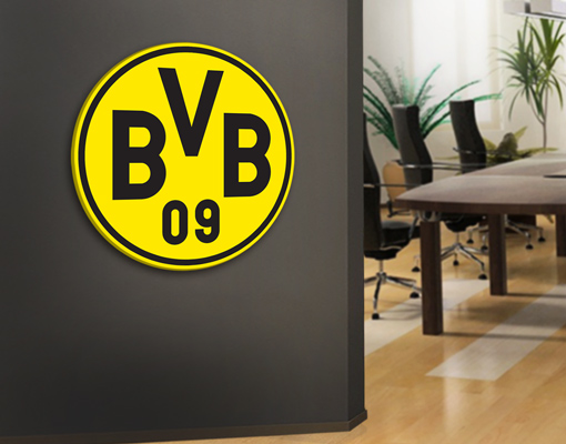 leinwand bild bilder borussia dortmund emblem fu ball bvb fan artikel verein ebay. Black Bedroom Furniture Sets. Home Design Ideas