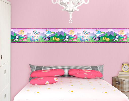 wandtattoo bord re my little pony die glitzernde welt der ponys sticker nordpol ebay. Black Bedroom Furniture Sets. Home Design Ideas